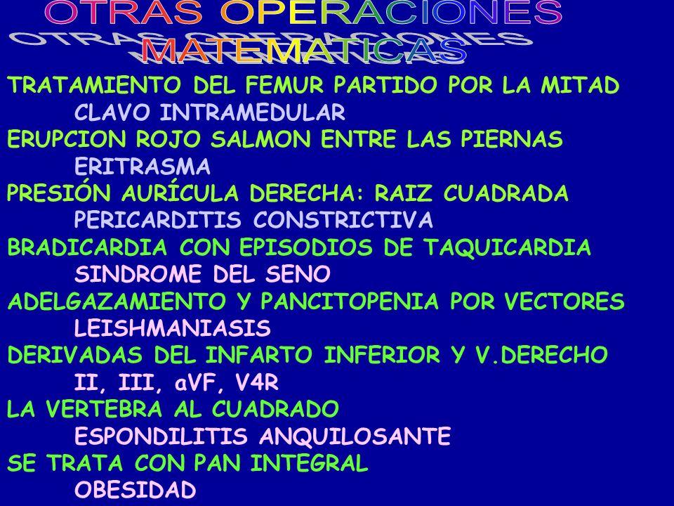 OTRAS OPERACIONES MATEMATICAS