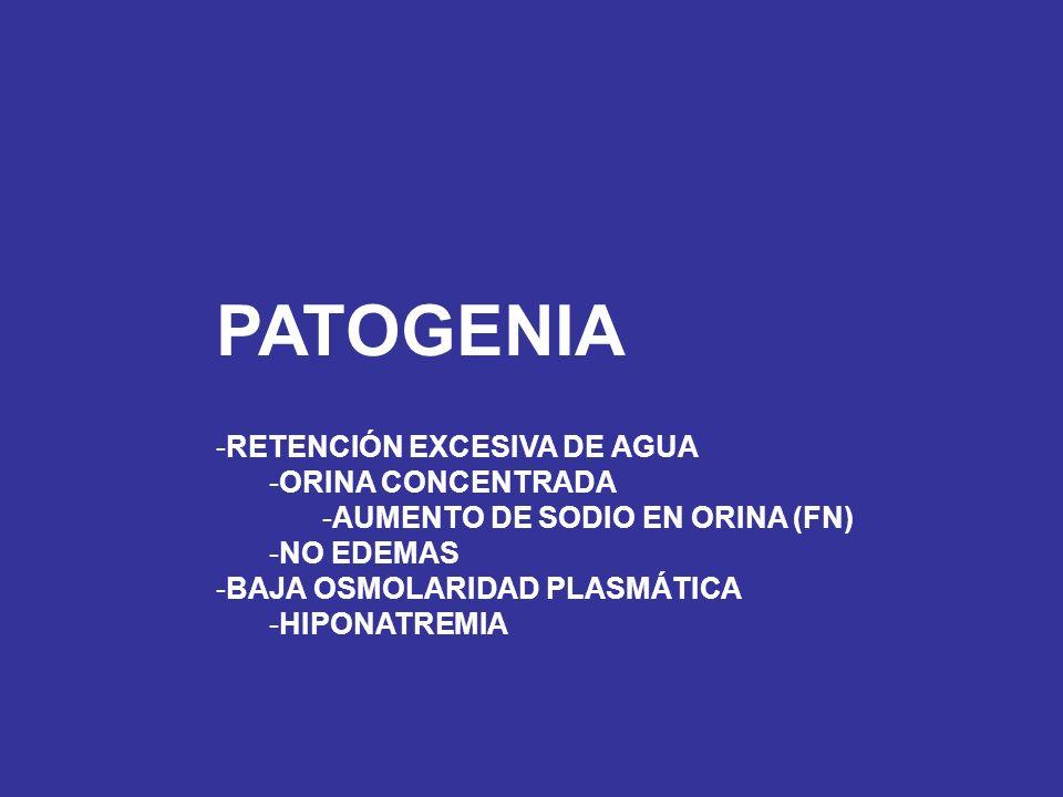 PATOGENIA RETENCIÓN EXCESIVA DE AGUA ORINA CONCENTRADA