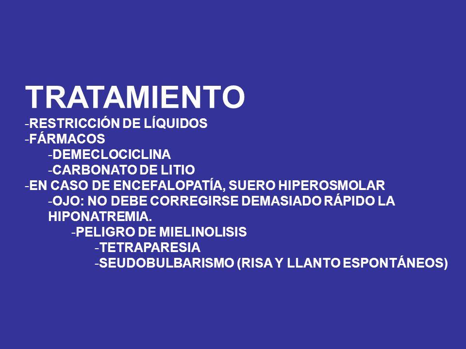 TRATAMIENTO RESTRICCIÓN DE LÍQUIDOS FÁRMACOS DEMECLOCICLINA