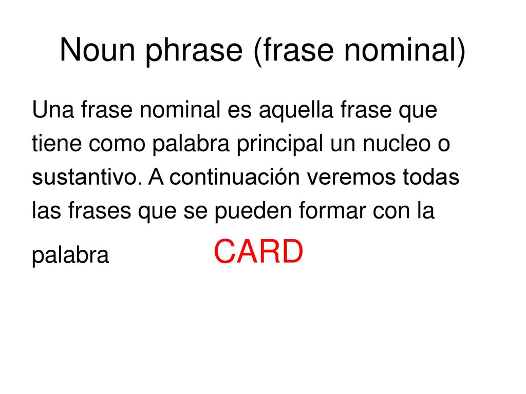 noun phrase A phrase that acts like a noun in the sentence is called a noun phrase it contains a noun & other associated words (usually determiners & modifiers) which modify the noun a noun phrase comprises of a noun as a head-word and other related words (determiners & modifiers) may come before or after the noun.