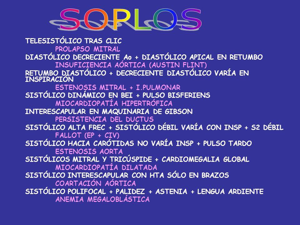SOPLOS TELESISTÓLICO TRAS CLIC PROLAPSO MITRAL