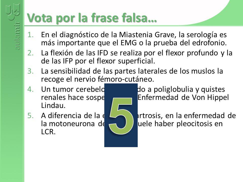 Vota por la frase falsa…
