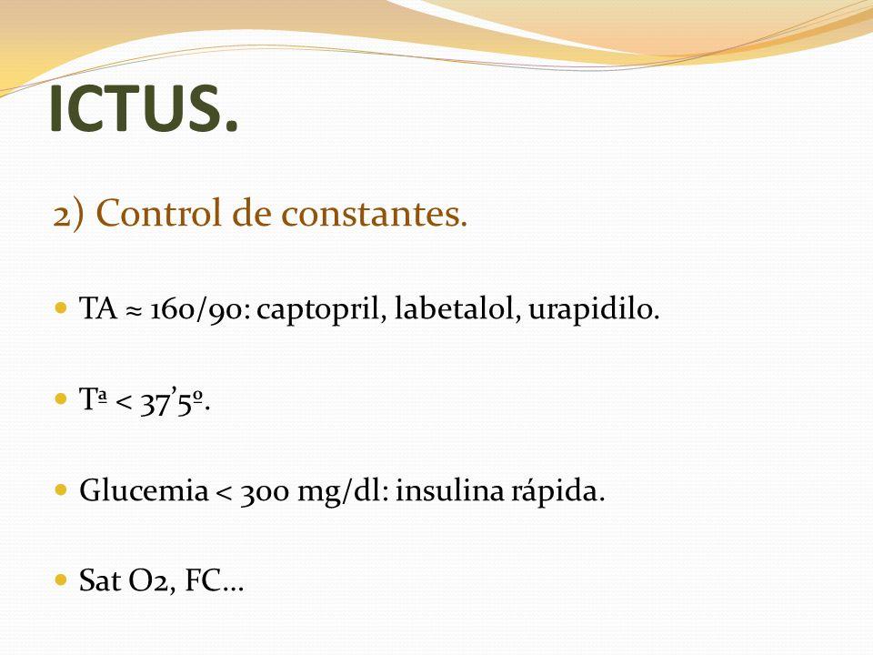 ICTUS. 2) Control de constantes.
