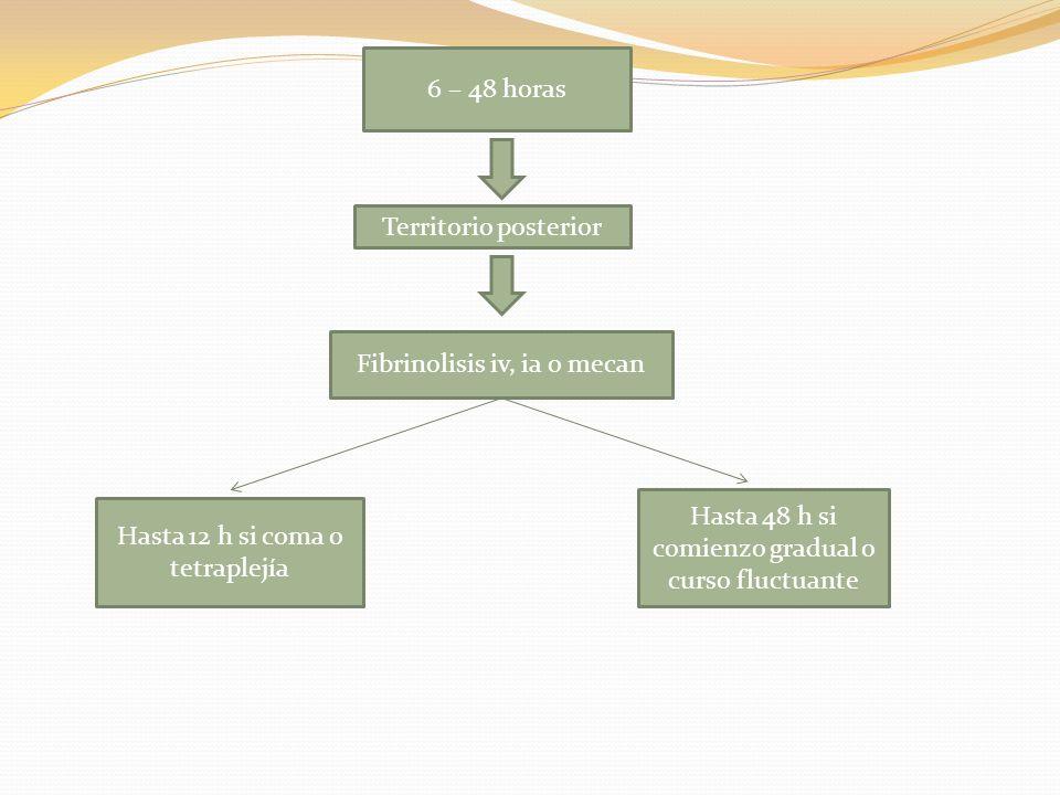 Fibrinolisis iv, ia o mecan