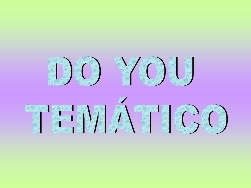 DO YOU TEMÁTICO