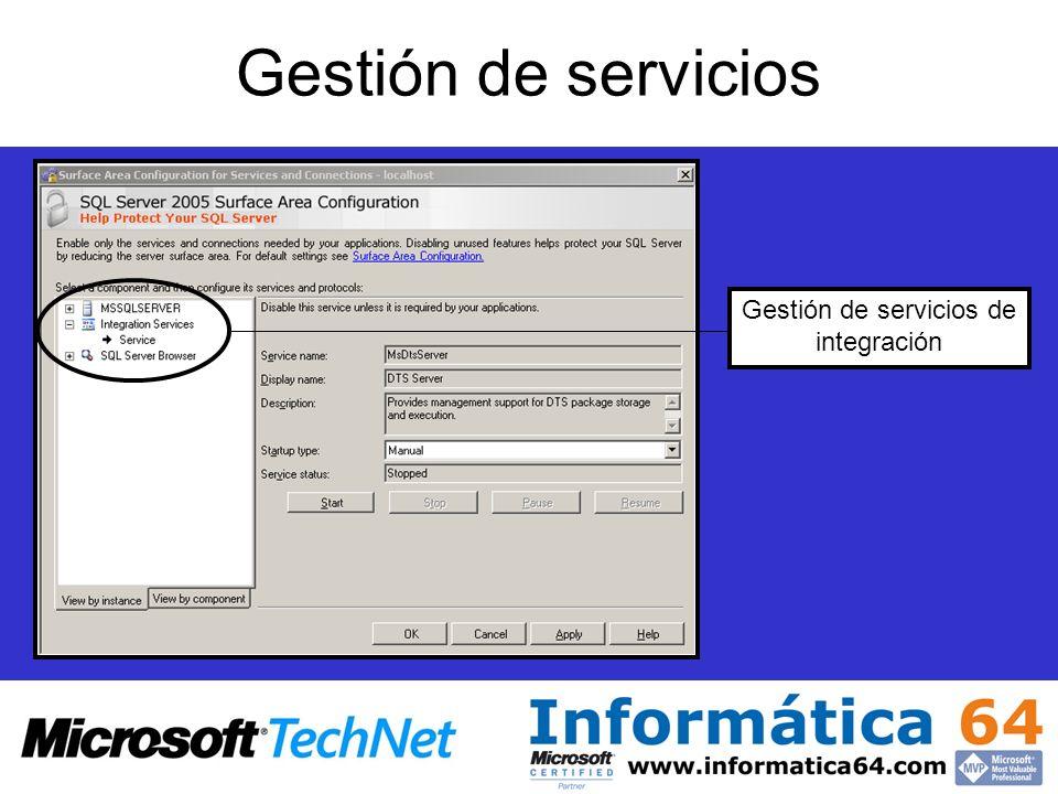 Gestión de servicios de integración