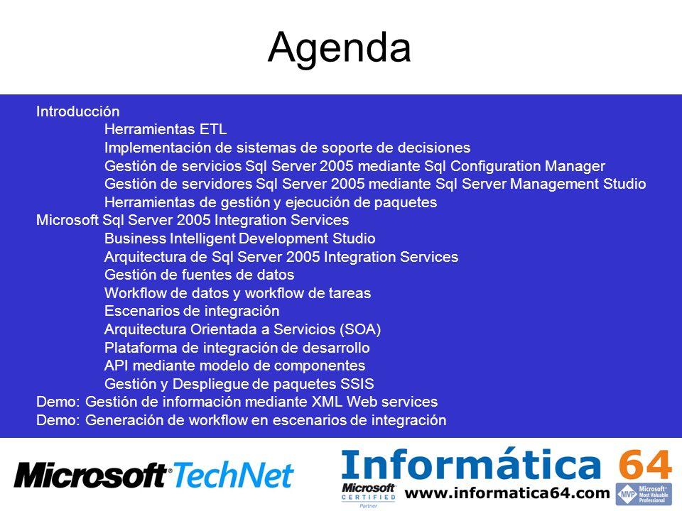 Agenda Introducción Herramientas ETL