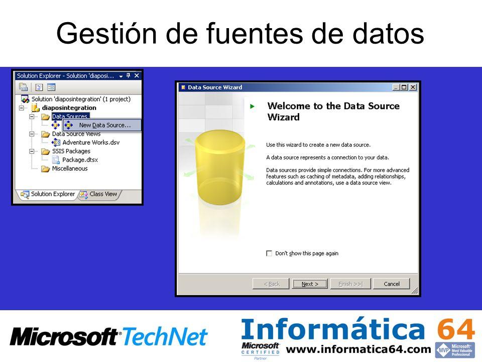 Gestión de fuentes de datos