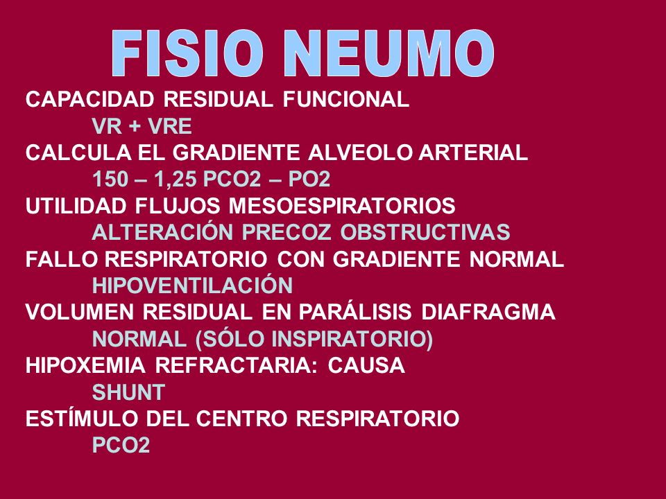 FISIO NEUMO CAPACIDAD RESIDUAL FUNCIONAL VR + VRE