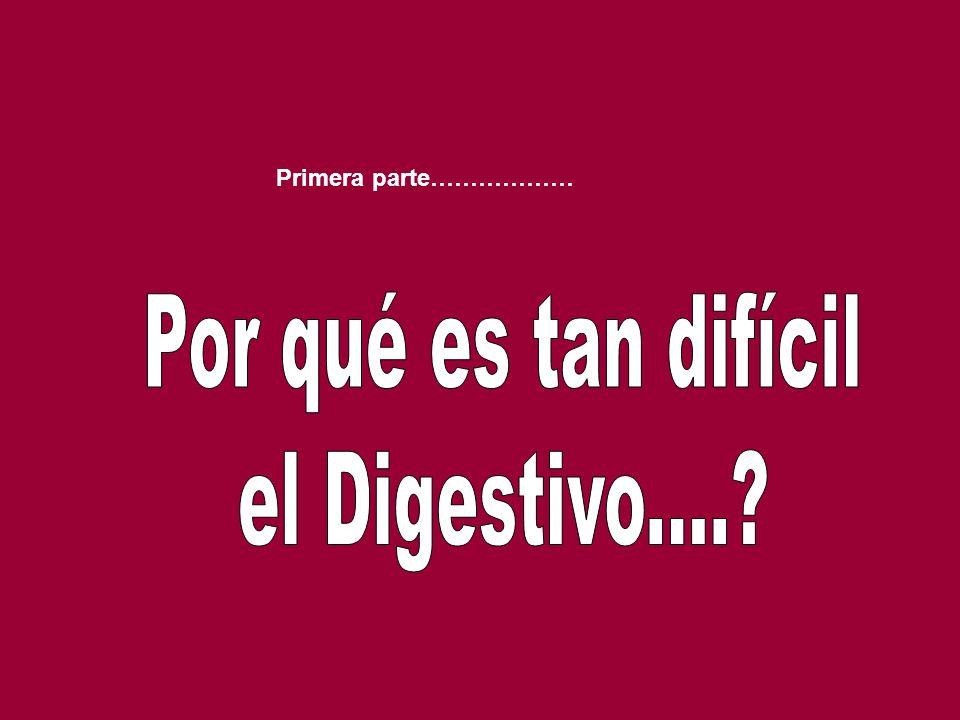 Primera parte……………… Por qué es tan difícil el Digestivo....