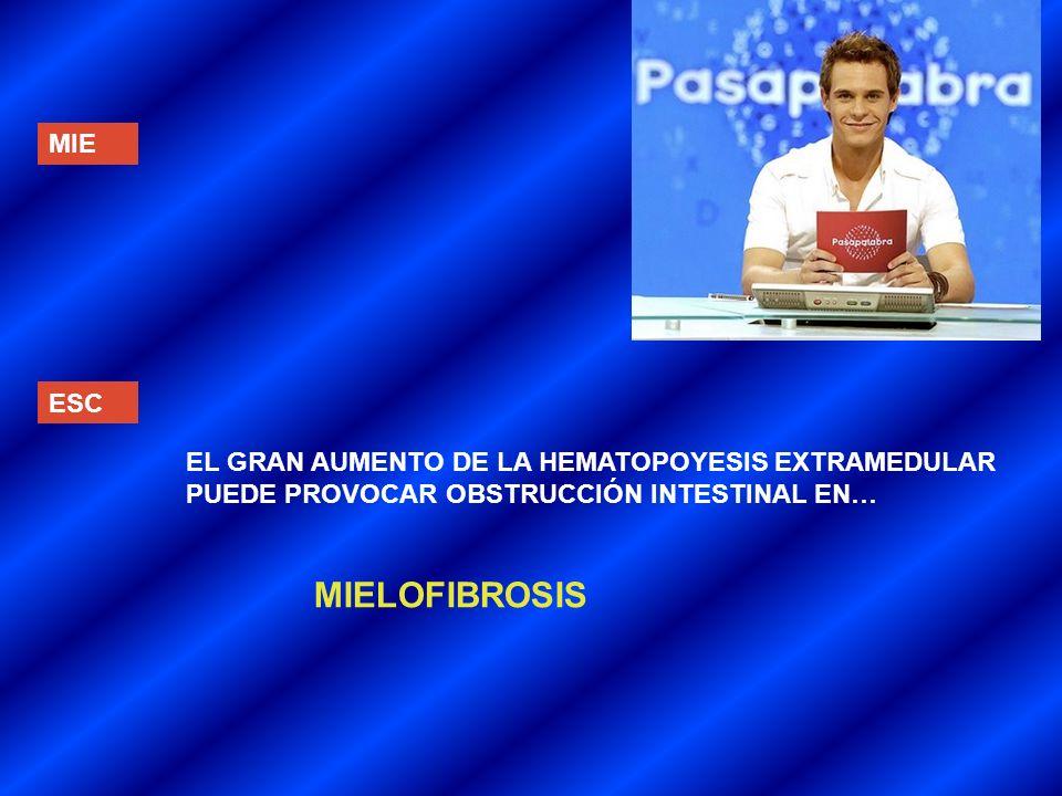 MIELOFIBROSIS MIE ESC EL GRAN AUMENTO DE LA HEMATOPOYESIS EXTRAMEDULAR