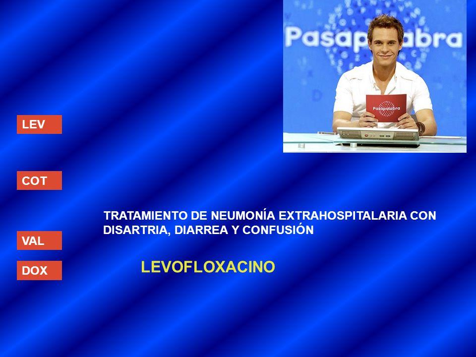 LEVOFLOXACINO LEV COT TRATAMIENTO DE NEUMONÍA EXTRAHOSPITALARIA CON