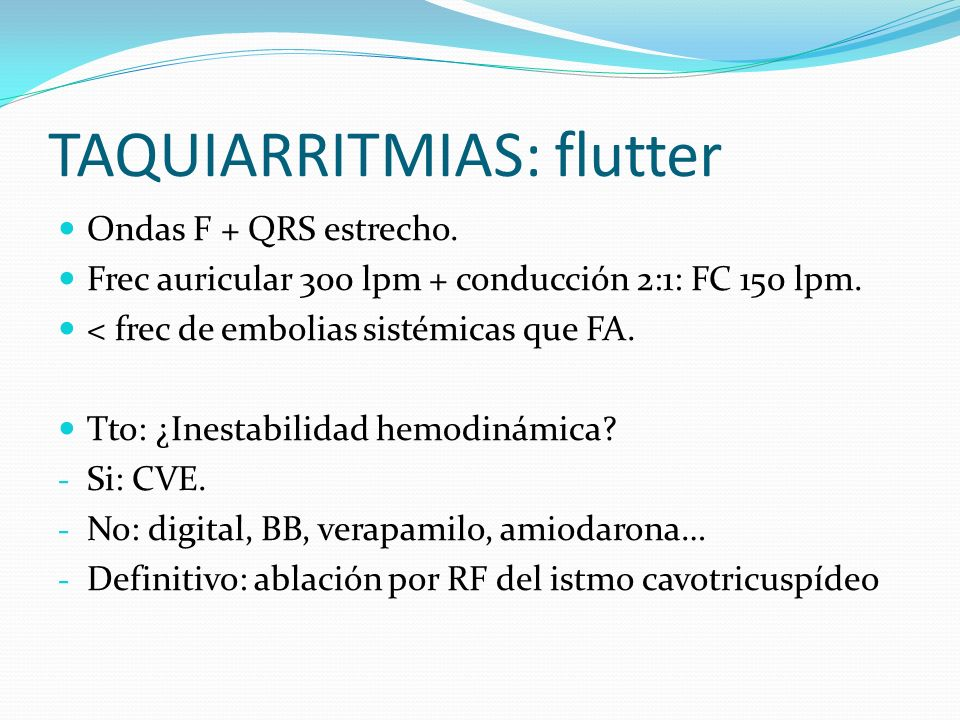 TAQUIARRITMIAS: flutter