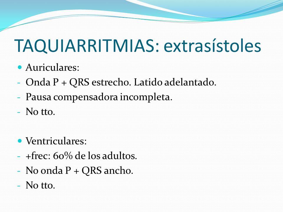 TAQUIARRITMIAS: extrasístoles