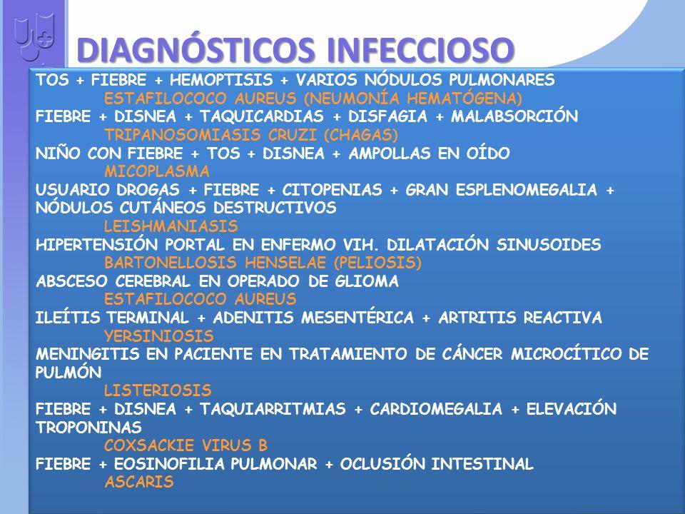 DIAGNÓSTICOS INFECCIOSO