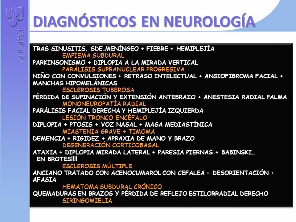 DIAGNÓSTICOS EN NEUROLOGÍA