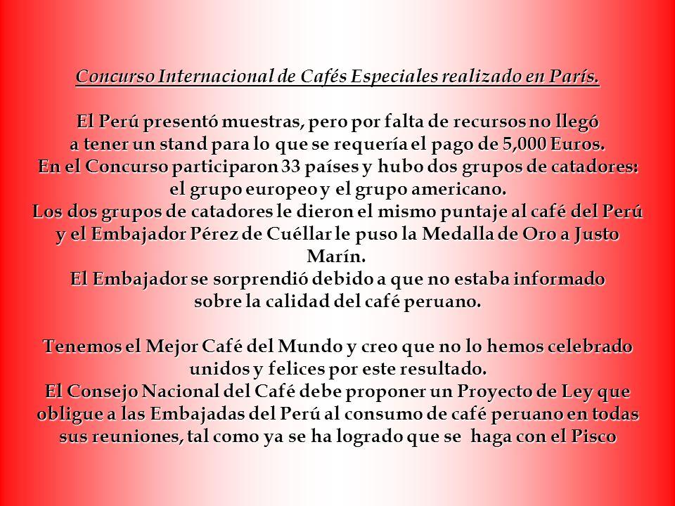 Concurso Internacional de Cafés Especiales realizado en París