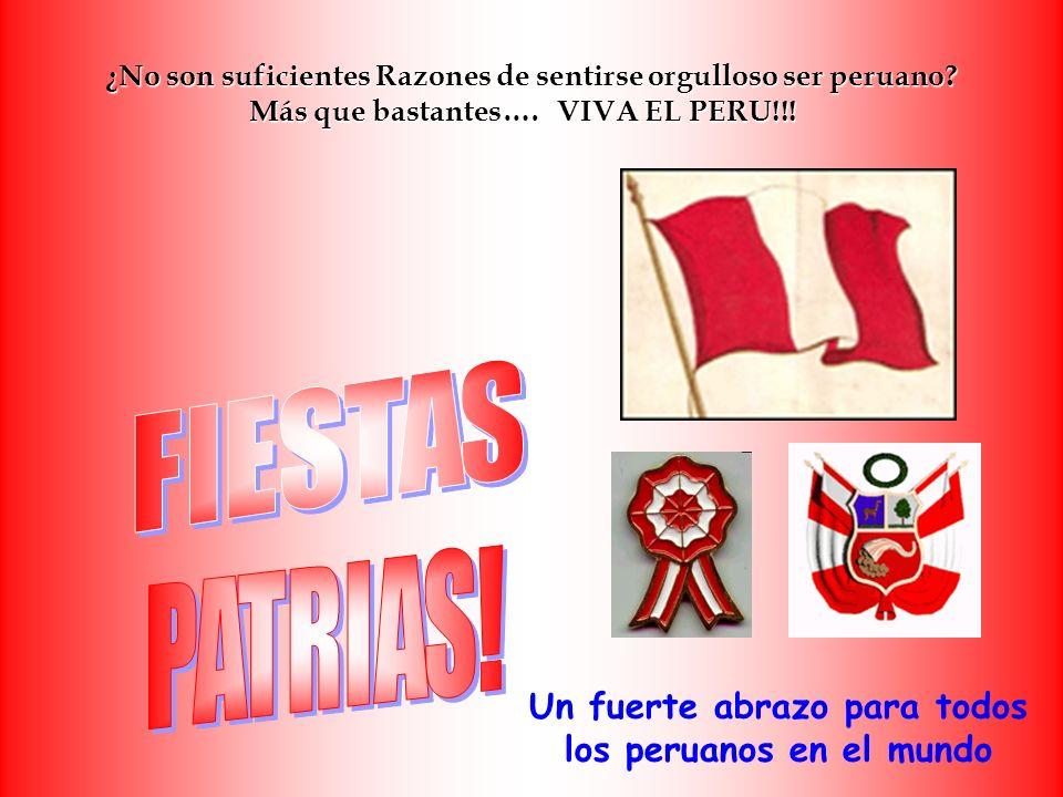 Un fuerte abrazo para todos los peruanos en el mundo