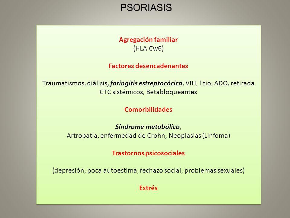 Factores desencadenantes Trastornos psicosociales