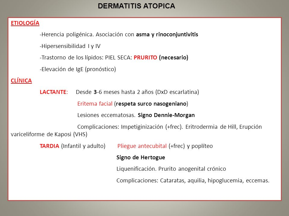 DERMATITIS ATOPICA ETIOLOGÍA