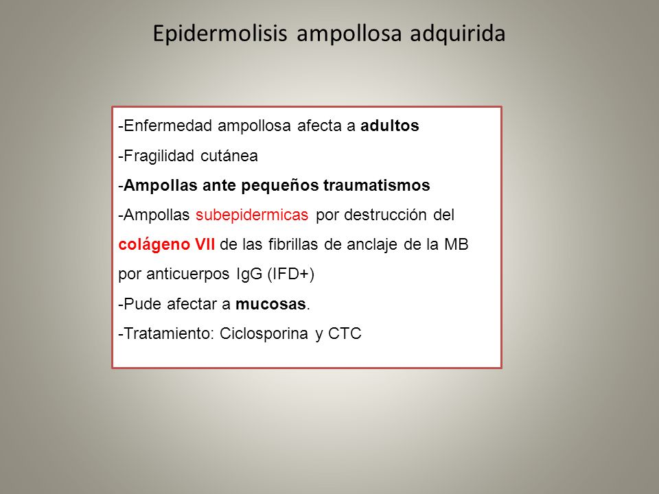 Epidermolisis ampollosa adquirida