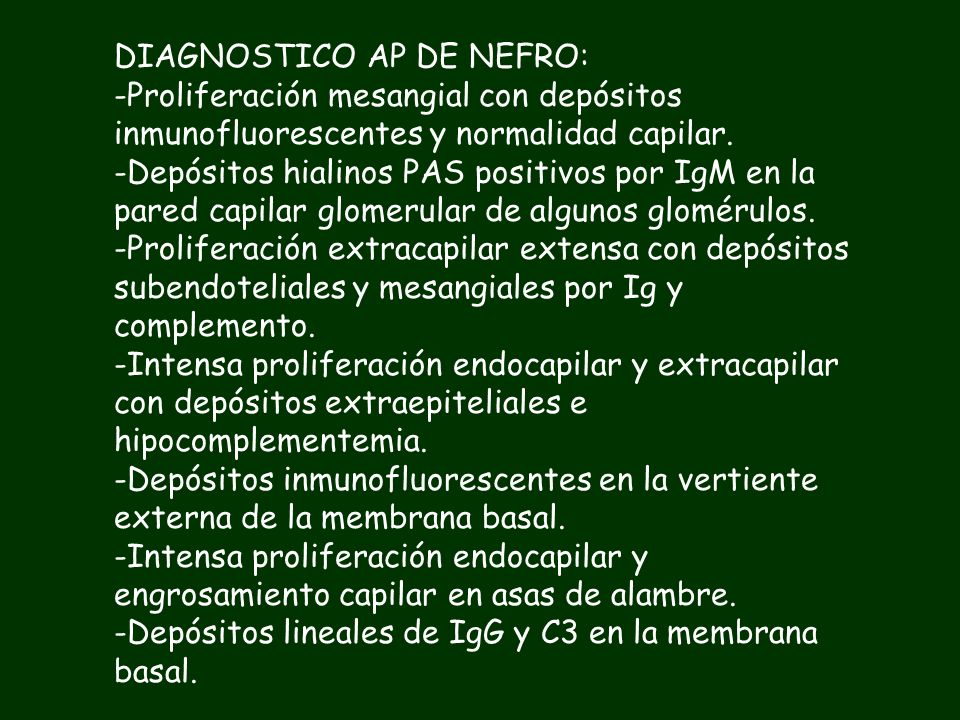 DIAGNOSTICO AP DE NEFRO:
