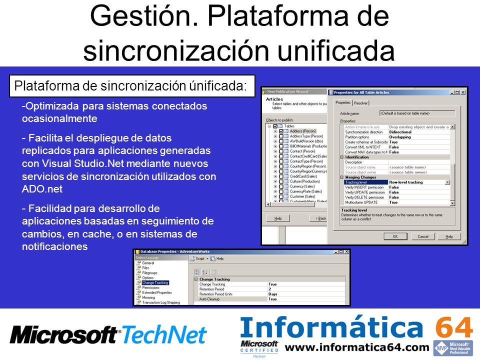 Gestión. Plataforma de sincronización unificada
