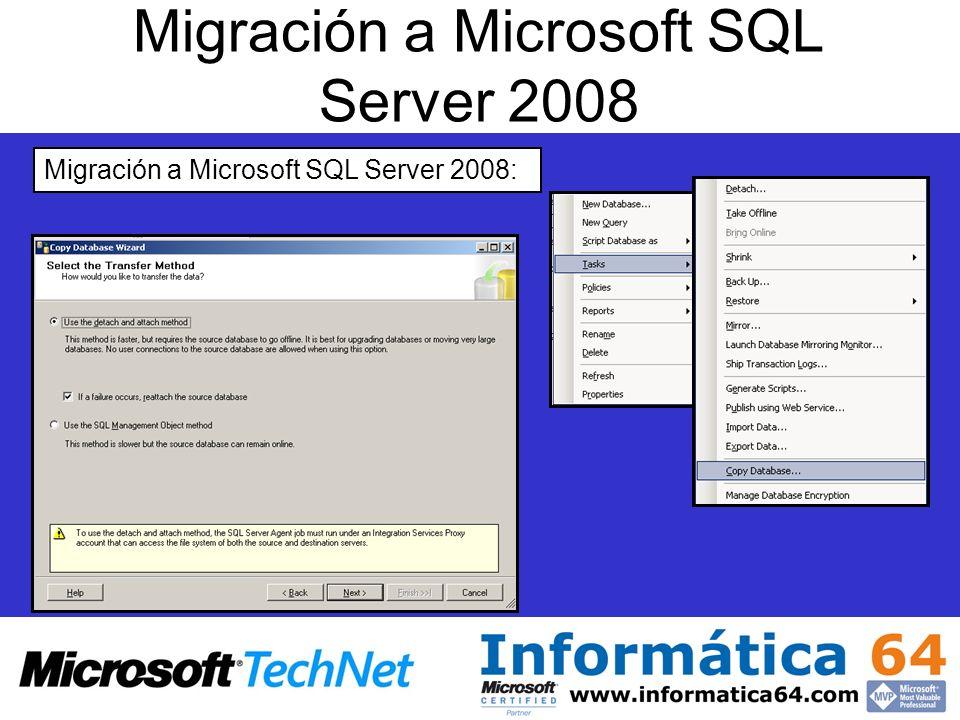 Migración a Microsoft SQL Server 2008