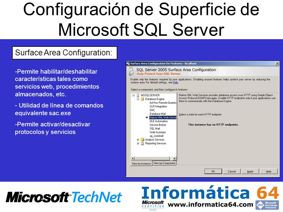 Configuración de Superficie de Microsoft SQL Server