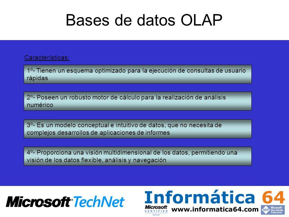 Bases de datos OLAP Características: