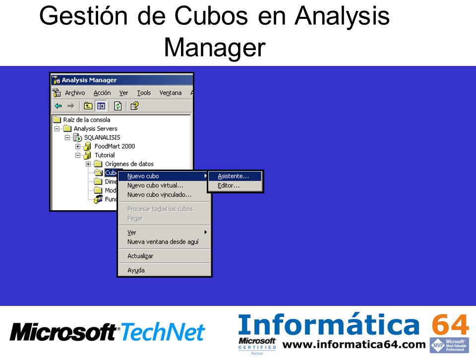 Gestión de Cubos en Analysis Manager