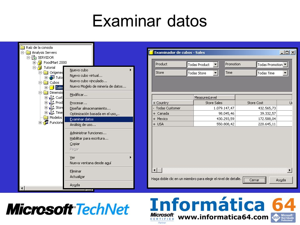 Examinar datos