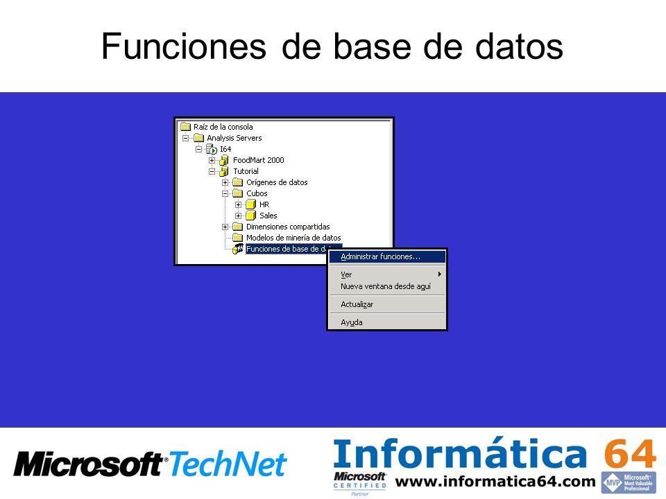 Funciones de base de datos