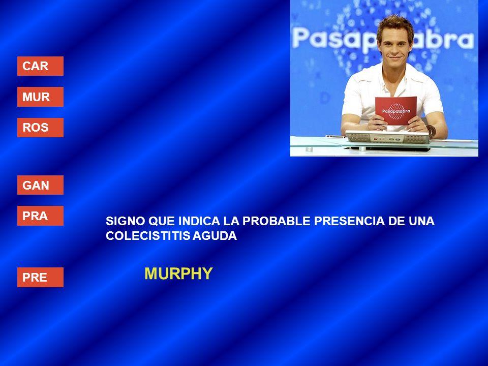 MURPHY CAR MUR ROS GAN PRA
