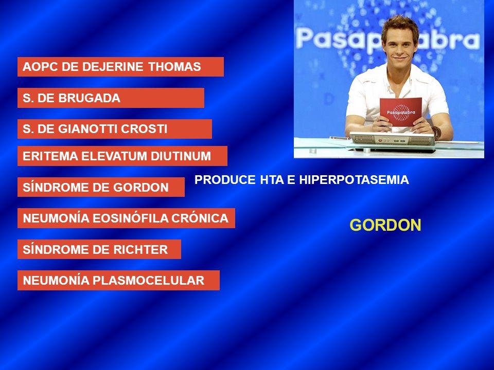 GORDON AOPC DE DEJERINE THOMAS S. DE BRUGADA S. DE GIANOTTI CROSTI