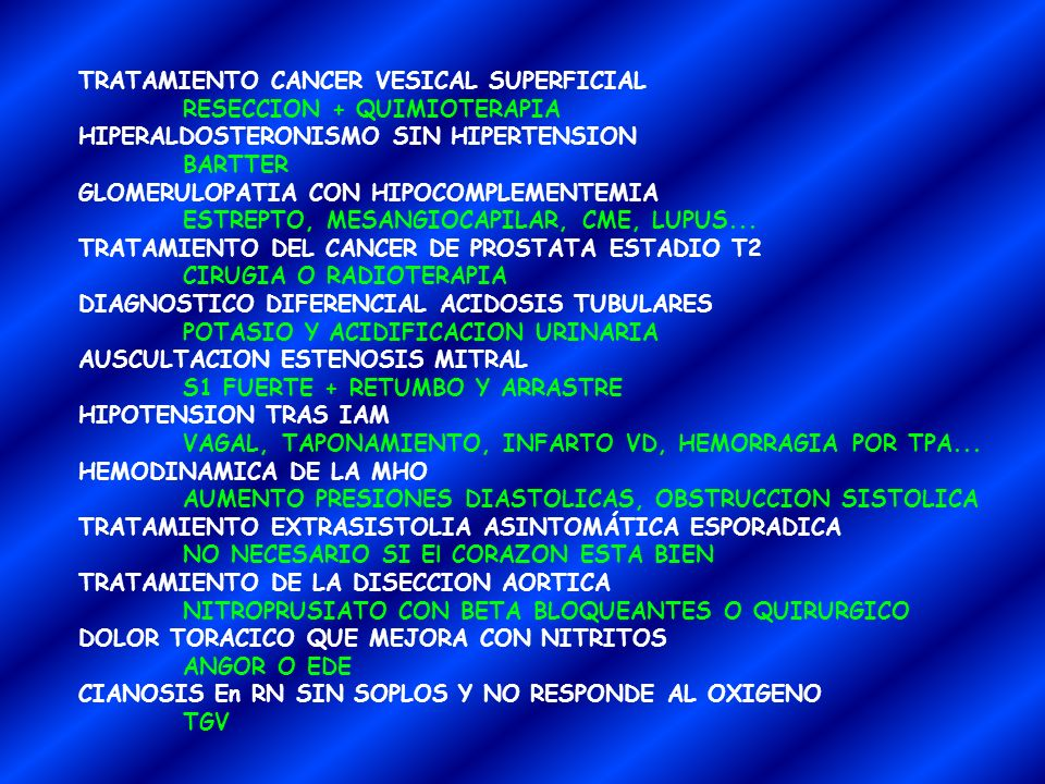 TRATAMIENTO CANCER VESICAL SUPERFICIAL