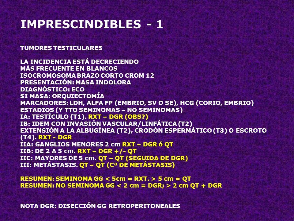 IMPRESCINDIBLES - 1 TUMORES TESTICULARES