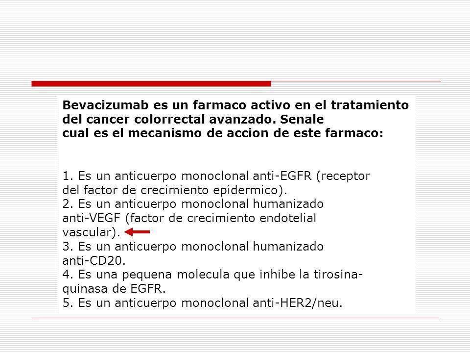 Bevacizumab es un farmaco activo en el tratamiento