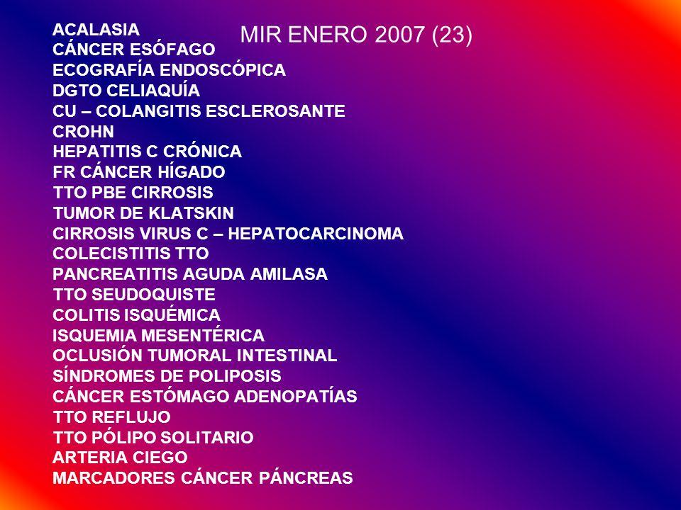 MIR ENERO 2007 (23) ACALASIA CÁNCER ESÓFAGO ECOGRAFÍA ENDOSCÓPICA
