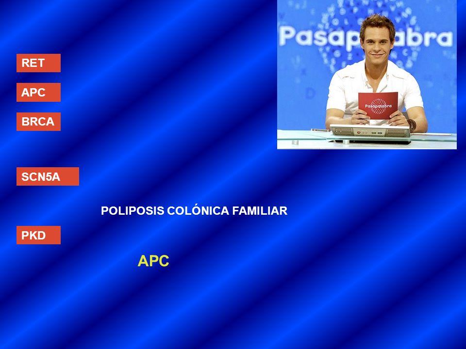 RET APC BRCA SCN5A POLIPOSIS COLÓNICA FAMILIAR PKD APC