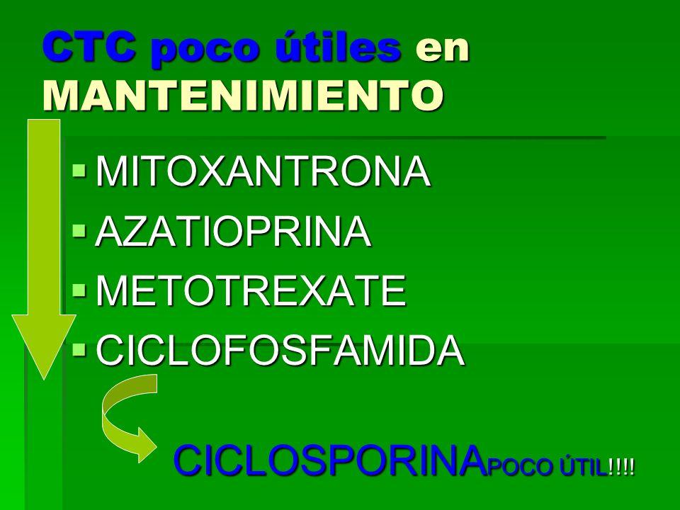 CTC poco útiles en MANTENIMIENTO