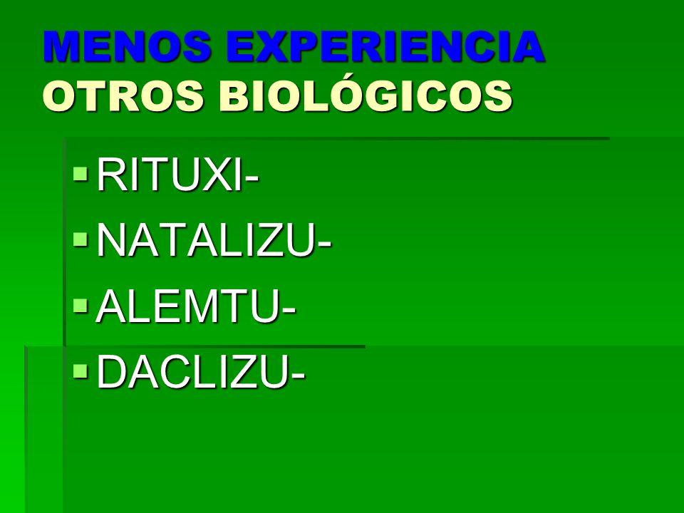 MENOS EXPERIENCIA OTROS BIOLÓGICOS