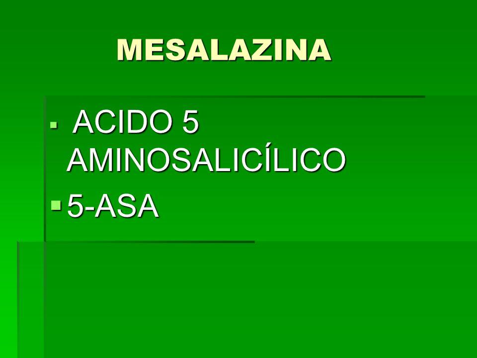 MESALAZINA ACIDO 5 AMINOSALICÍLICO 5-ASA