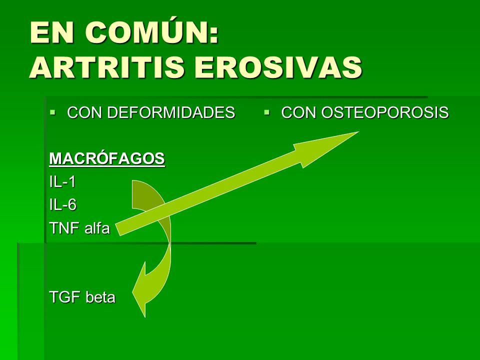 EN COMÚN: ARTRITIS EROSIVAS