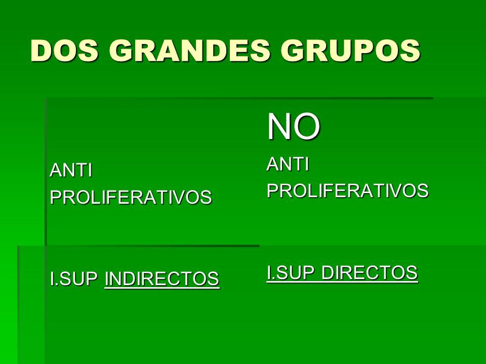 NO DOS GRANDES GRUPOS ANTI ANTI PROLIFERATIVOS PROLIFERATIVOS