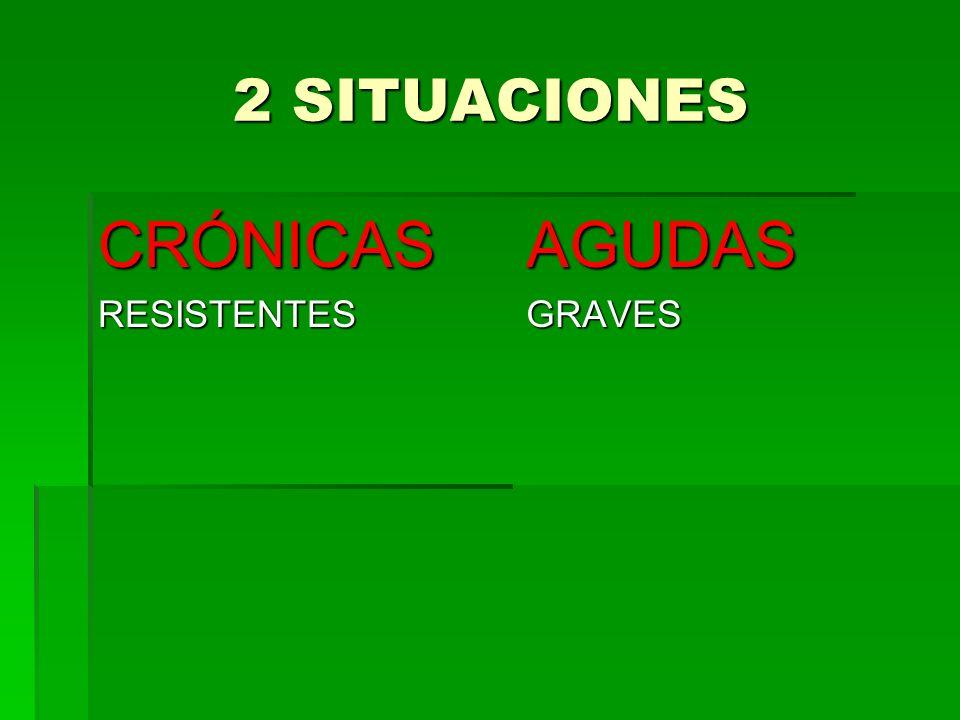 2 SITUACIONES CRÓNICAS RESISTENTES AGUDAS GRAVES