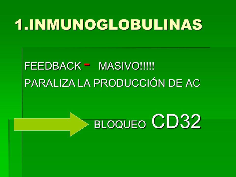 1.INMUNOGLOBULINAS FEEDBACK - MASIVO!!!!! PARALIZA LA PRODUCCIÓN DE AC