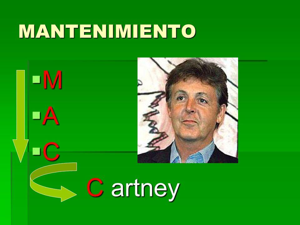 MANTENIMIENTO M A C C artney
