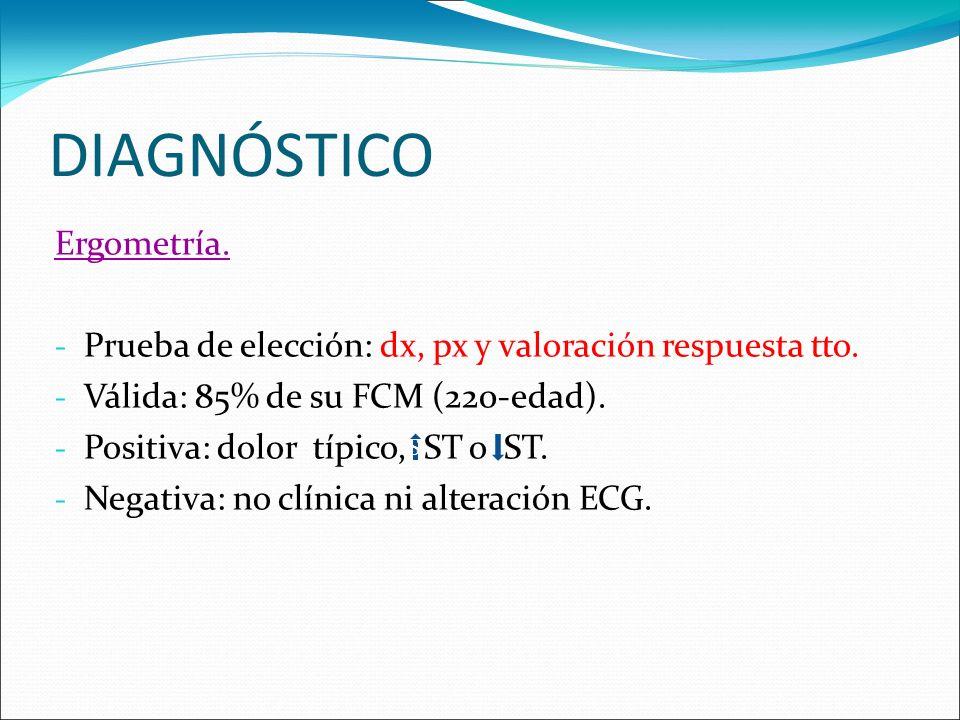 DIAGNÓSTICO Ergometría.