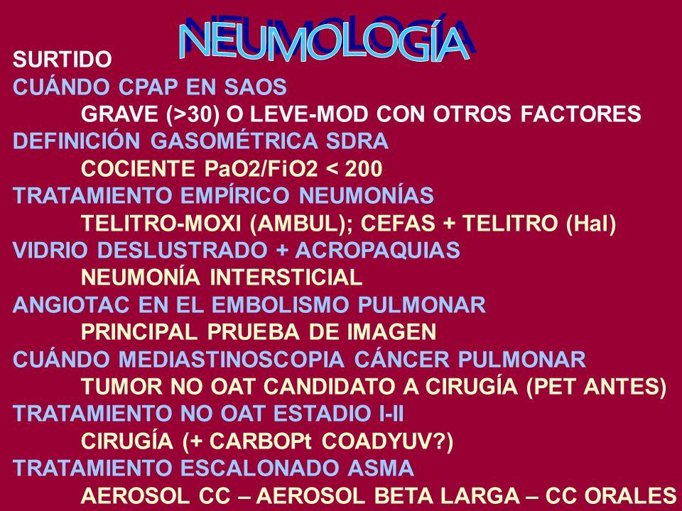 NEUMOLOGÍA SURTIDO CUÁNDO CPAP EN SAOS